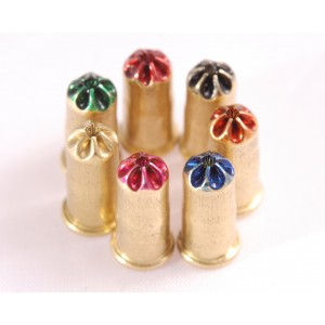 .25 Caliber CASH Stunner Cartridges / Loads - accles and shevolke pink, yellow, blue, orange, black, green, red cartridges