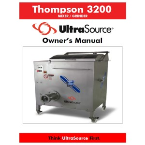 Mixer-Grinder Thompson 3200 Owner's Manual