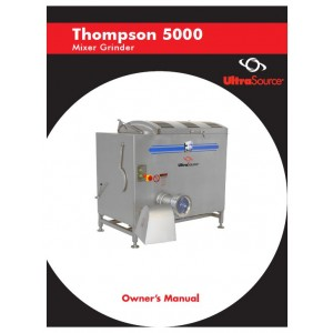 Mixer-Grinder Thompson 5000 Owner's Manual