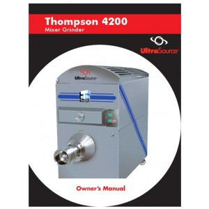 Mixer-Grinder Thompson 4200 Owner's Manual