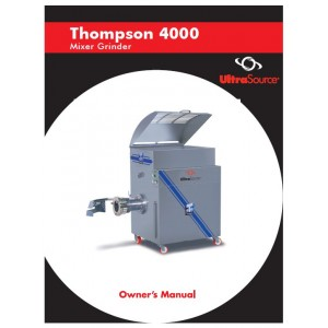 Mixer-Grinder Thompson 4000 Owner's Manual