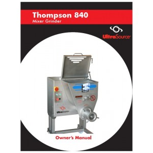 Mixer-Grinder Thompson 840 Owner's Manual