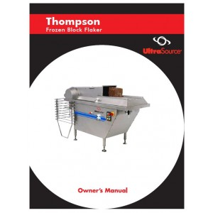 Thompson Frozen Block Flaker Owner's Manual