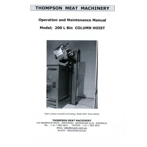 Thompson 200 L Bin Column Hoist