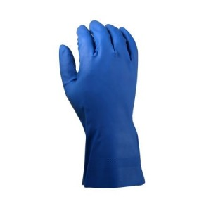 Reusable 12 Mil Blue Latex Gloves - 144 Gloves Per Case - Sizes 7.8, 9, or 10