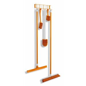 Brush and Broom Rack - Orange - 17""