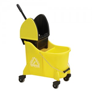 UltraSource Dual Mop Bucket Combo Yellow