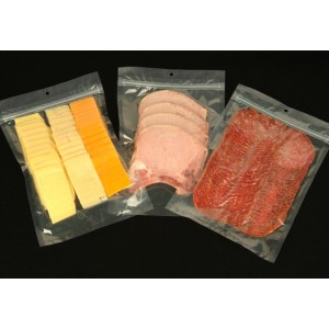 Resealable, Zipper Vacuum Packaging Pouches with Hanger Hole