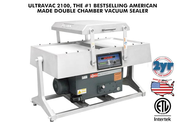 Ultravac 2100 Best American Made Double Chamber Vacuum Sealer