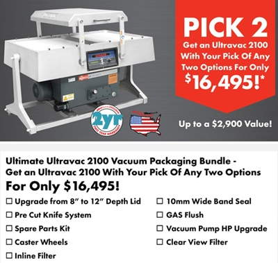 UltraSource Ultravac 2100 Double Chamber Vacuum Sealer Deal