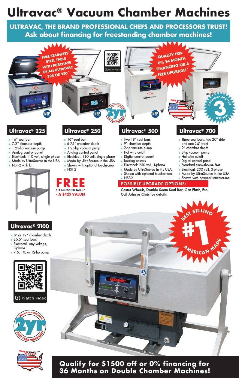 Ultravac Chamber Vacuum Sealer Promotions