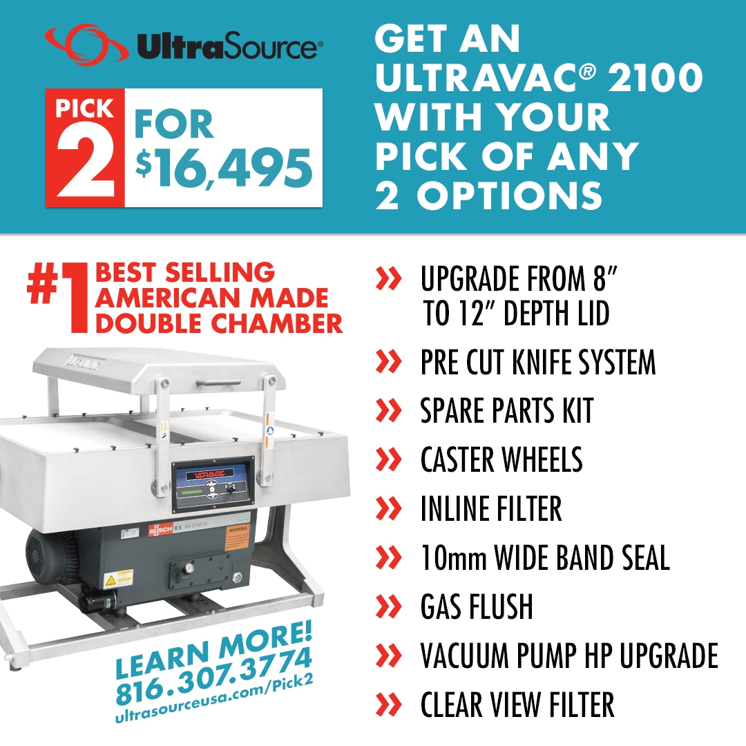 Ultravac 2100 Double Chamber Vacuum Sealer Pick 2 Features for 16495