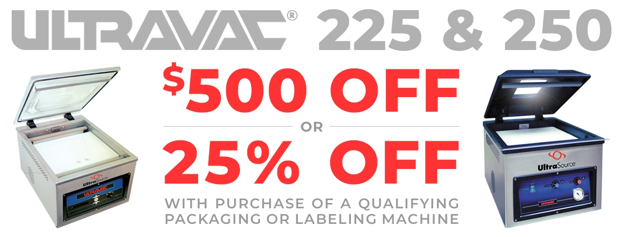 UltraSource 225 and 250 Vacuum Chamber Sealer Promotions