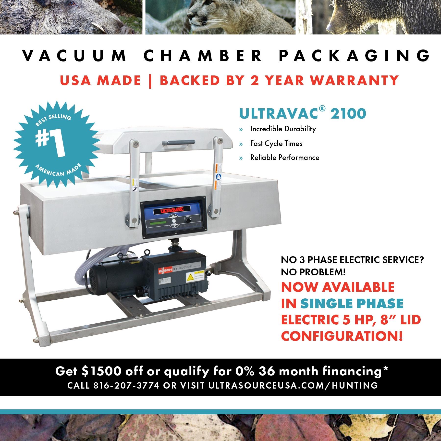 Ultravac 2100 Double Chamber Vacuum Sealer