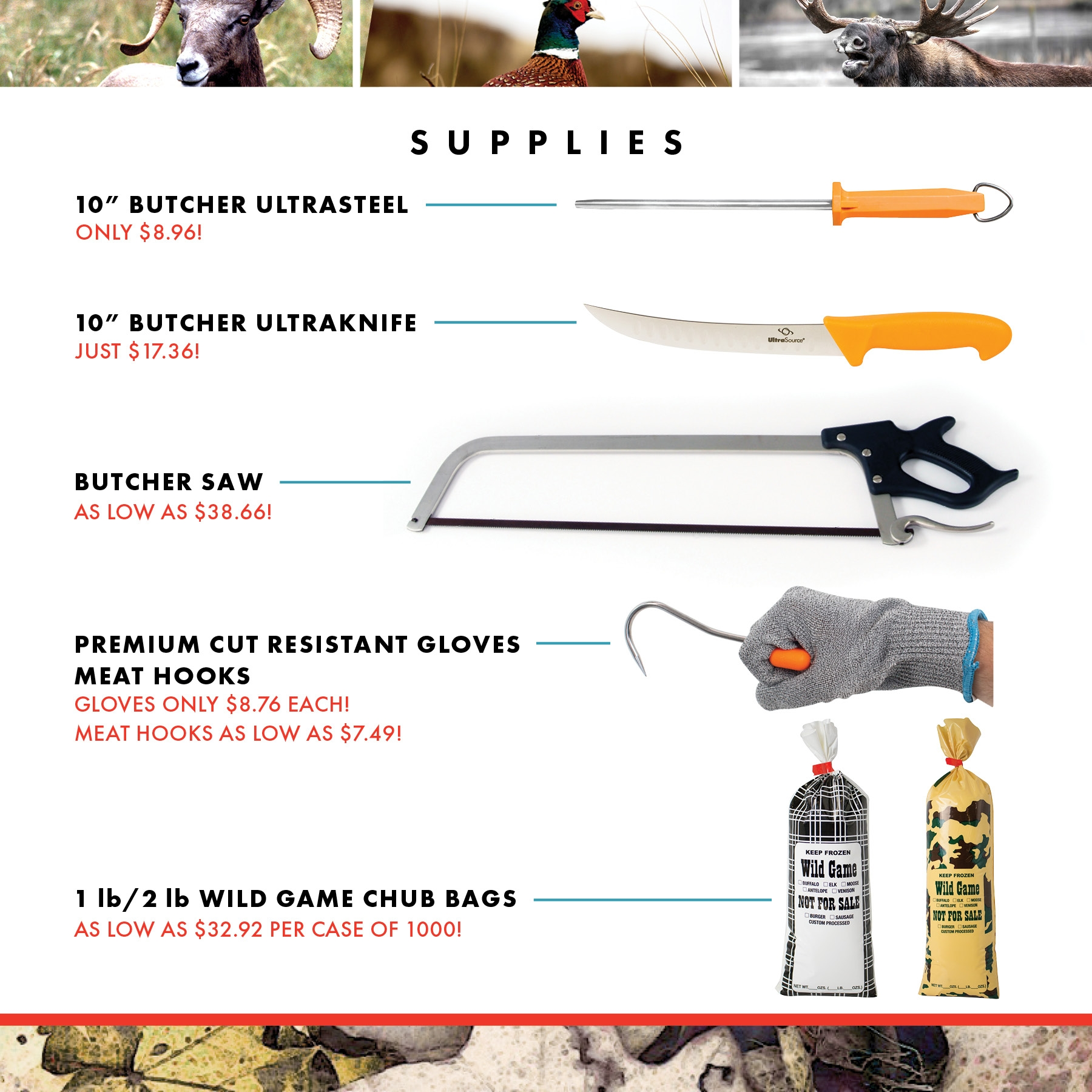 Hunting Meat Processing Supplies