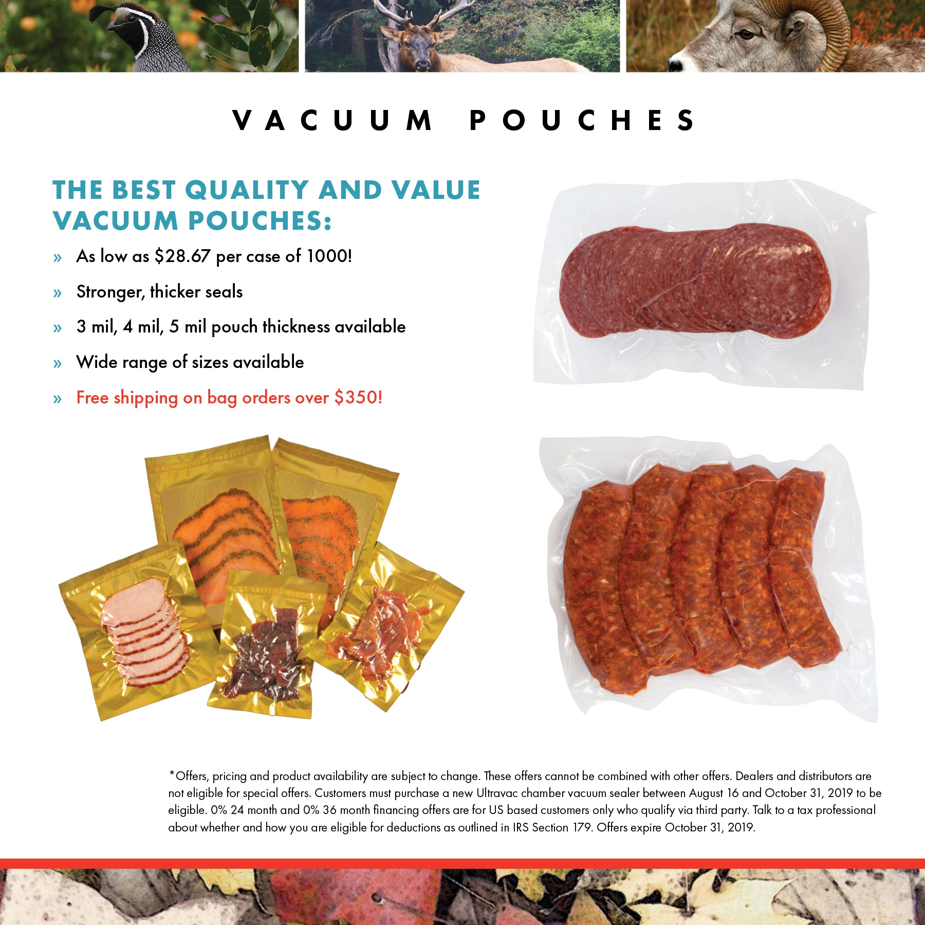Vacuum Chamber Pouches