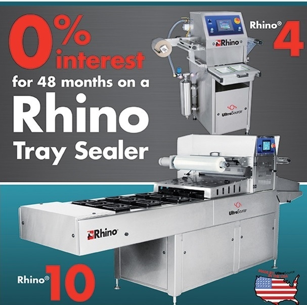 Get 0% 48 Month Financing on UltraSource Rhino Food Tray Sealers