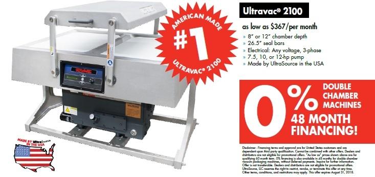 UltraSource Ultravac Double Chamber Vacuum Packaging Machine