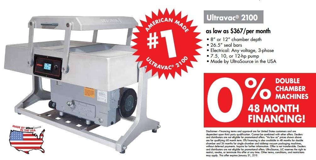 Ultravac 2100 Double Chamber Vacuum Packaging Machine