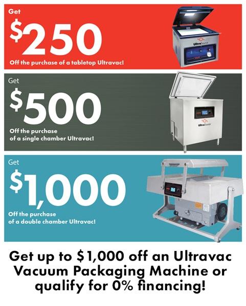 Ultravac Vacuum Packaging Discounts