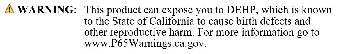 Warning Prop 65